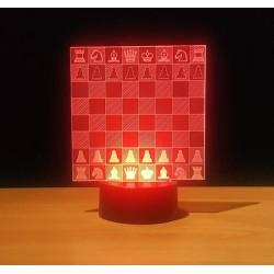 Schachbrett Tischlampe